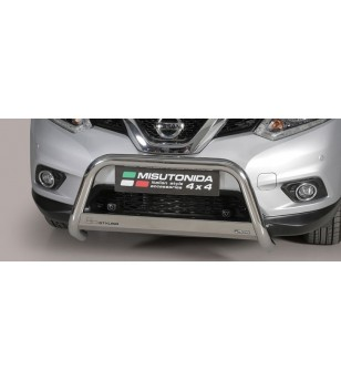 Nissan X-Trail 2015 EC Approved Medium Bar Inox ø63 stainless steel - EC/MED/379/IX - Bullbar / Lightbar / Bumperbar - Verstrale