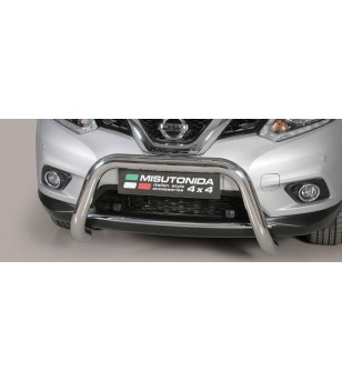 Nissan X-Trail 2015 EC Approved Super Bar Inox ø76 rvs - EC/SB/379/IX - Bullbar / Lightbar / Bumperbar - Unspecified - Verstrale