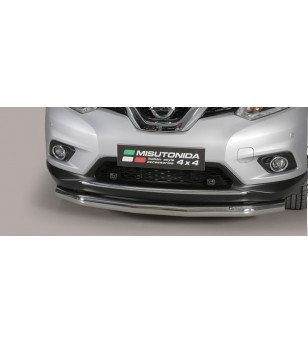 Nissan X-Trail 2015 Slash Bar Inox ø76 rvs - SLF/379/IX - Bullbar / Lightbar / Bumperbar - Unspecified