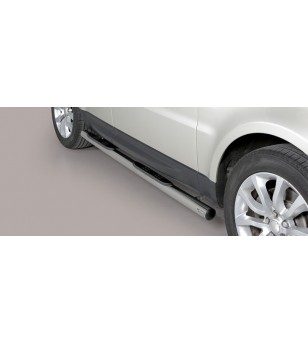 Range Rover Sport 2014 Grand Pedana (Side Bars with steps) Inox ø76 stainless steel