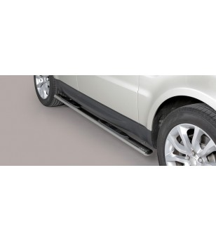 Range Rover Sport 2014 Oval Grand Pedana Oval Side Bars with steps Inox stainless steel - GPO/389/IX - Sidebar / Sidestep - Vers