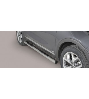 Kia Sorento 2015- Grand Pedana (Side Bars with steps) Inox ø76 rvs - GP/388/IX - Sidebar / Sidestep - Unspecified