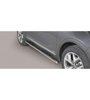 Kia Sorento 2015- Oval Grand Pedana Oval Side Bars with steps Inox stainless steel - GPO/388/IX - Sidebar / Sidestep - Verstrale