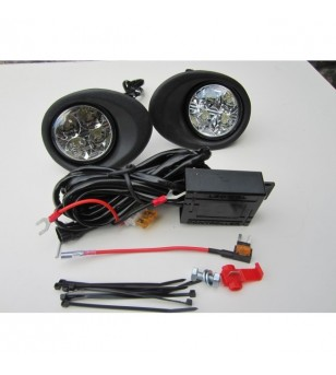 Master 10+ Day Time Running Light Kit Black