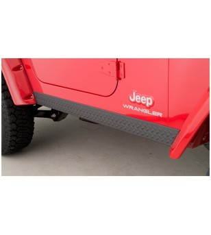 Bushwacker Wrangler TJ 97-06 Matte Black Trail Armor DiamondBack Rocker Panels - 14002 - Other accessories - Bushwacker Trail Ar