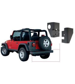 Bushwacker Wrangler TJ 97-06 Matte Black Trail Armor Rear Corners