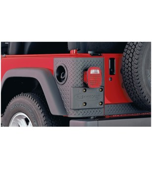 Bushwacker Wrangler TJ 97-06 Matte Black Trail Armor Rear Corners - 14004 - Other accessories - Bushwacker Trail Armor - Verstra