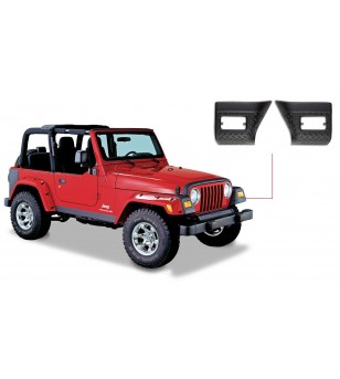 Bushwacker Wrangler TJ and Unlimited 97-06 Matte Black Trail Armor Front Corners