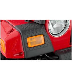 Bushwacker Wrangler TJ and Unlimited 97-06 Matte Black Trail Armor Front Corners - 14007 - Overige accessoires - Bushwacker Trai