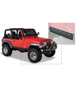 Bushwacker Wrangler TJ 97-06 Matte Black Trail Armor Pocket Style Side Rocker Panels