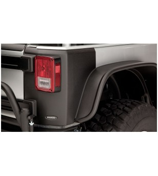 Bushwacker Wrangler JK 2dr 07-15 Matte Black Trail Armor Rear Corners - 14009 - Other accessories - Bushwacker Trail Armor - Ver