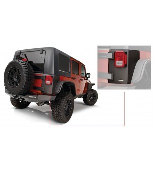 Bushwacker Wrangler JK Unlimited 4dr 07-15 Matte Black Trail Armor Rear Corners