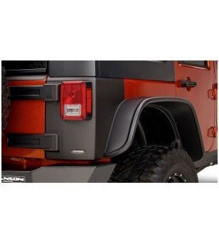 Bushwacker Wrangler JK Unlimited 4dr 07-15 Matte Black Trail Armor Rear Corners - 14010 - Overige accessoires - Bushwacker Trail