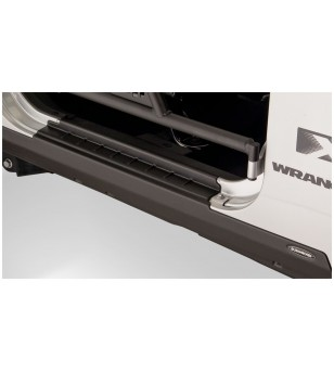 Bushwacker Wrangler JK 2dr 07-15 Matte Black Trail Armor Rocker Panel Sill Plate - 14011 - Other accessories - Bushwacker Trail