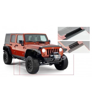 Bushwacker Wrangler JK Unlimited 4dr 07-15 Matte Black Trail Armor Rocker Panel Sill Plate - 14012 - Other accessories - Bushwac