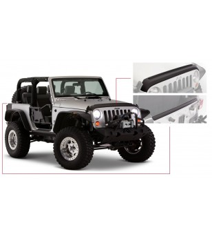 Bushwacker Wrangler TJ and Unlimited 97-06 Matte Black Trail Armor Hood and Front Fender Stone Guards