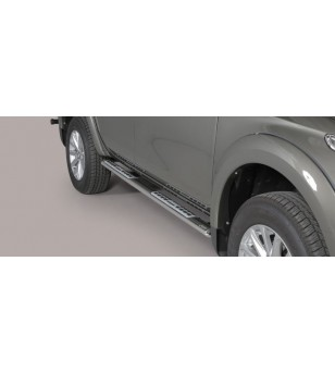 L200 Design Side Protections Inox