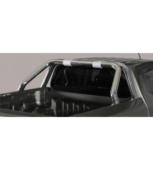 L200 Double Cab 15- Roll Bar on Tonneau Inox (2 pipes version)