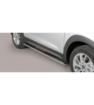 Tucson Oval grand Pedana (Oval Side Bars with steps) Inox