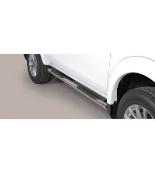 L200 club cab, Oval grand Pedana (Oval Side Bars with steps) Inox