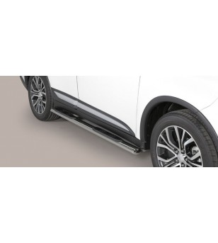 Outlander Oval grand Pedana (Oval Side Bars with steps) Inox