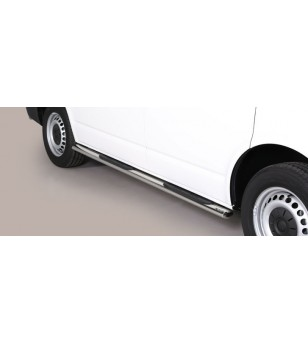 T6 Oval grand Pedana (Oval Side Bars with steps) Inox - GPO/396/SWB - Sidebar / Sidestep - Unspecified