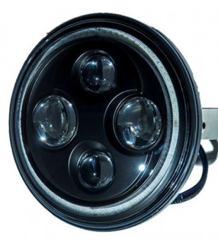 Angel Eyes Black LED headlight - VSQDHLB8006 - Lighting - Unspecified - Verstralershop