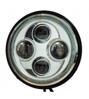 Angel Eyes Chrome LED headlight - VSQDHLB8001 - Lighting - Unspecified - Verstralershop