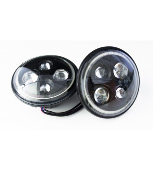Angel Eyes Black LED headlight - set