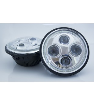 Angel Eyes Chrome LED headlight - set
