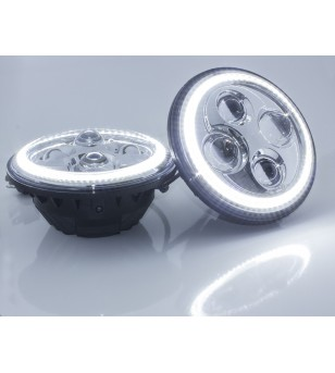 Angel Eyes Chrome LED headlight - set - VSQDHLB8001set - Lighting - Unspecified