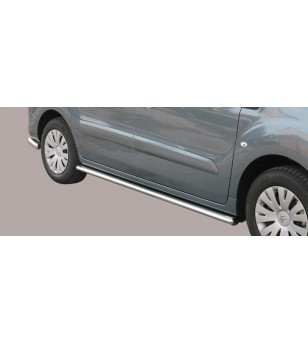 Berlingo 15- Oval Design Side Protections Inox