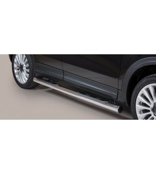 Fiat 500 X Grand Pedana (Side Bars with steps) Inox