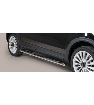 Fiat 500 X Oval grand Pedana (Oval Side Bars with steps) Inox