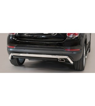 Fiat 500 X Rear Protection Inox - PP1/393/IX - Rearbar / Opstap - Unspecified