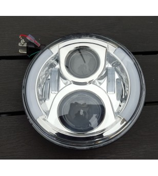 80W LED headlight with DRL - Chrome - VSNRAL80WC - Lighting - Unspecified