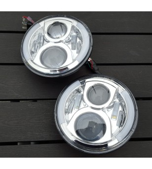 80W LED headlight with DRL Chrome - set - VSNRAL80WC-set - Lighting - Unspecified