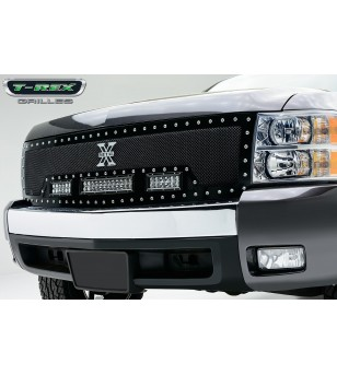 "Silverado 1500 07-12 Grille - 12"" & 2x 6"" LED Lightbar - 6311111 - Grille - T-Rex Torch"