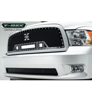 "RAM 1500 09-12 Grille - 12"" LED Lightbar & 2x 3"" LED Cubes - 6314571 - Grille - T-Rex Torch"