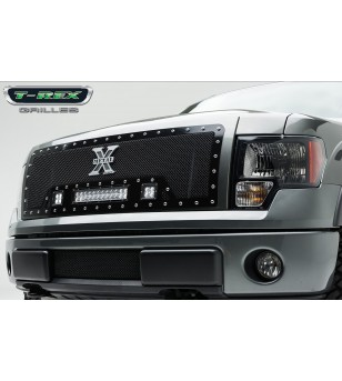 "F-150 09-12 Grille - 12"" LED Lightbar & 2x 3"" LED Cubes - 6315681 - Grille - T-Rex Torch"