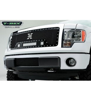 "F-150 13-14 Grille - 12"" LED Lightbar & 2x 3"" LED Cubes - 6315721 - Grille - T-Rex Torch"