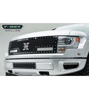 "Raptor F-150 SVT 10-14 Grille - 2x 12"" LED Lightbar - 6315661 - Grille - T-Rex Torch"