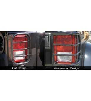 Jeep Wrangler JK  Flat Design 2007-2012 Taillight Guards - J015 - Overige accessoires - Unspecified - Verstralershop