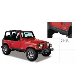 Jeep Wrangler Tj 1997-2006 Trail Armor Pocket Style Rocker Panels - 14008 - Other accessories - Unspecified