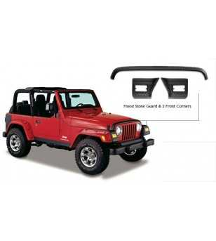 Jeep Wrangler Tj 1997-2006 Trail Armor Hood Stone Guard & Front Corners Set