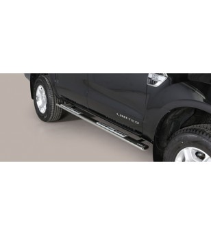 Ranger D.C. 16- Oval Design Side Protections Inox - DSP/295/IX - Sidebar / Sidestep - Unspecified