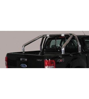 Ranger D.C. 16- Roll Bar on Tonneau Inox (2 pipes version) - RLSS/2295/IX - Rollbars / Sportsbars - Unspecified