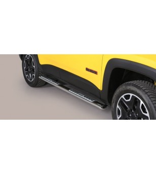 Renegade Trailhawk 14- Oval Design Side Protections Inox - DSP/376/IX - Sidebar / Sidestep - Unspecified - Verstralershop