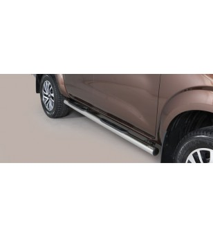 Navara NP 300 16- Grand Pedana (Side Bars with steps) Inox - GP/400/IX - Sidebar / Sidestep - Unspecified - Verstralershop