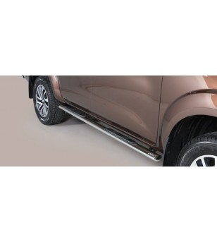 Navara NP 300 16- Oval grand Pedana (Oval Side Bars with steps) Inox - GPO/400/IX - Sidebar / Sidestep - Verstralershop